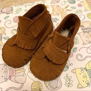 Minnetonka Brown Bootie for baby size 3